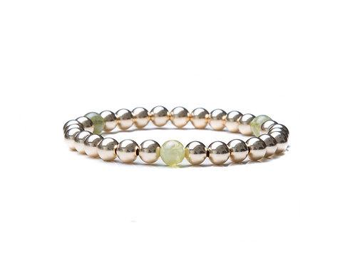14kt gold filled 6mm bead bracelet with Garnets
