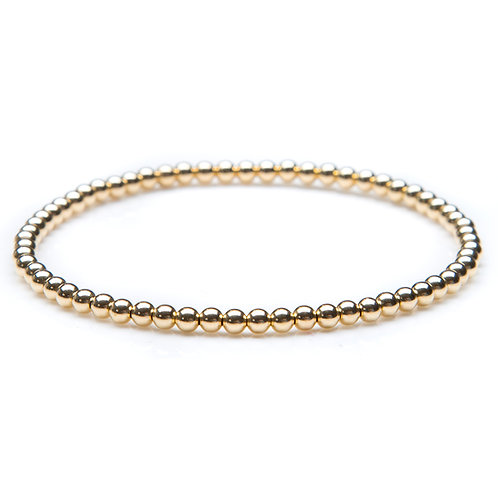 14kt gold filled 3mm bead bracelet