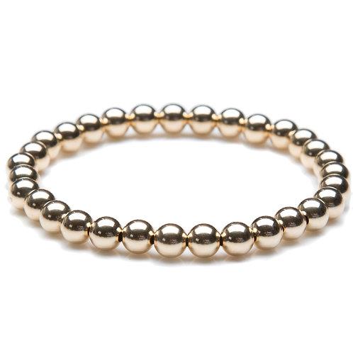14kt gold filled 6mm bead bracelet