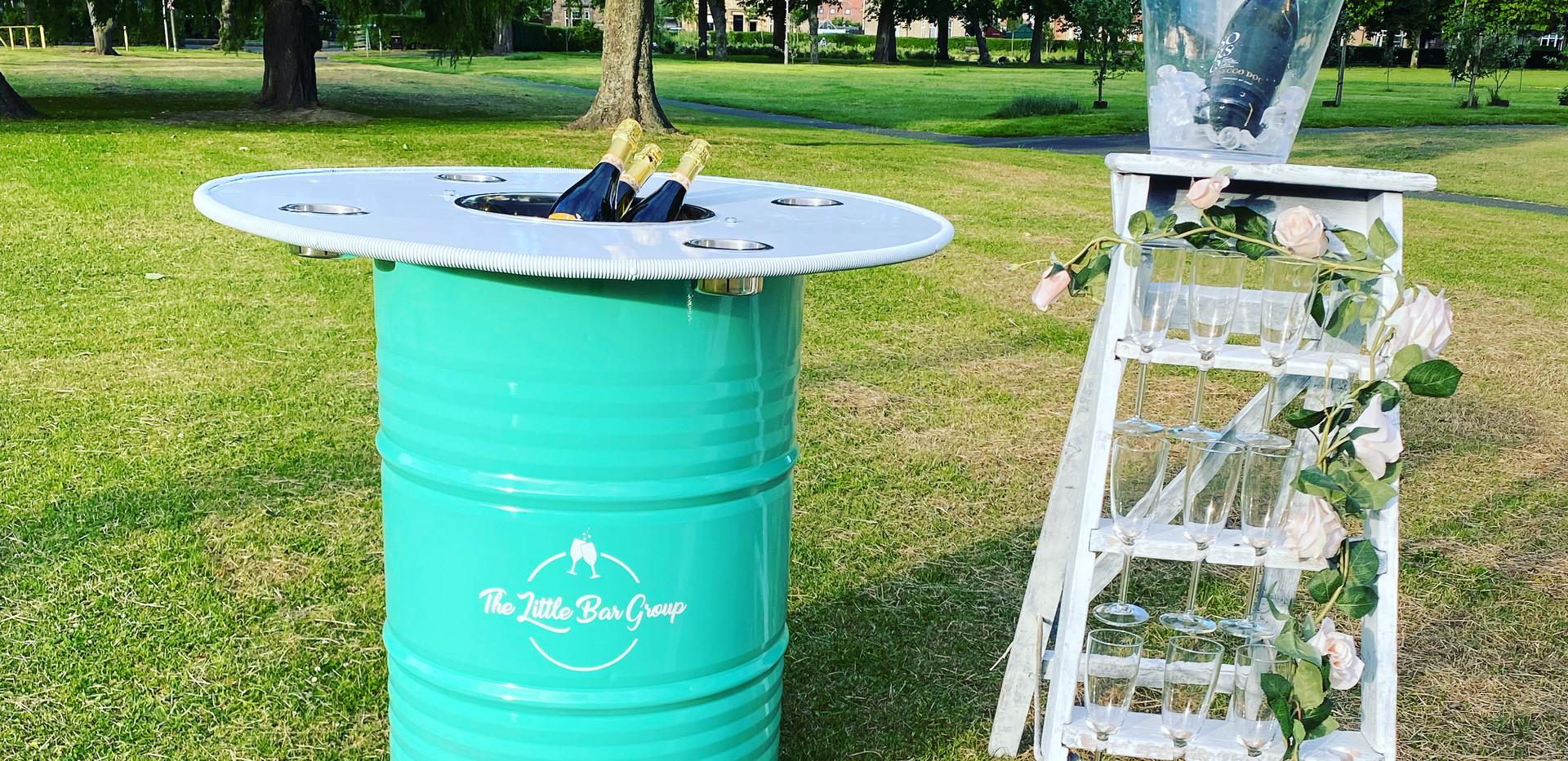 Boozy Barrel & Prosecco Ladder