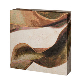 """06.Fallen magnolia leaves-wrapped  6""""X6""""X2"""""""
