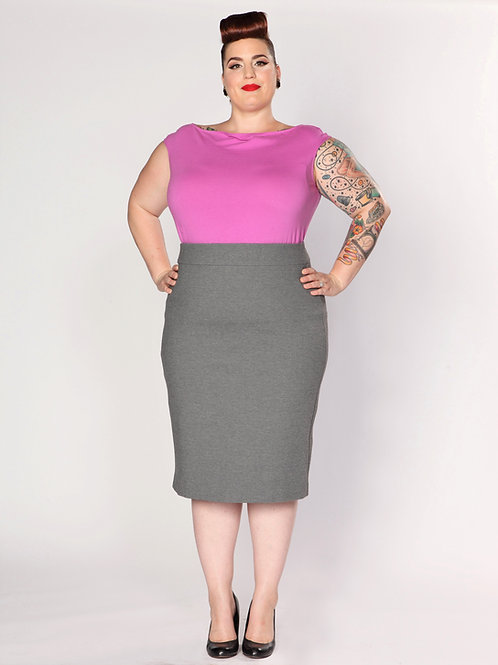 Patsy Pencil Skirt - Graphite