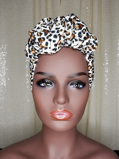 Jaguar Animal Print Turban Cap