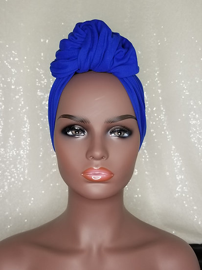 Royal Blue Turban Cap
