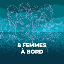 8 femmes à bord