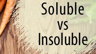 Soluble vs insoluble fibre