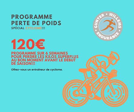 Programme PERTE DE POIDS spécial cyclistes