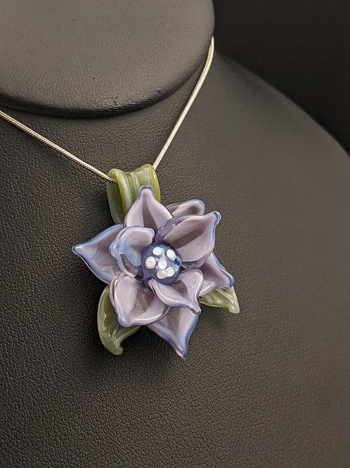 Purple uv lotus flower spirit