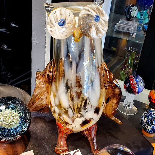 Hooter the glass owl 8.75 inches tall