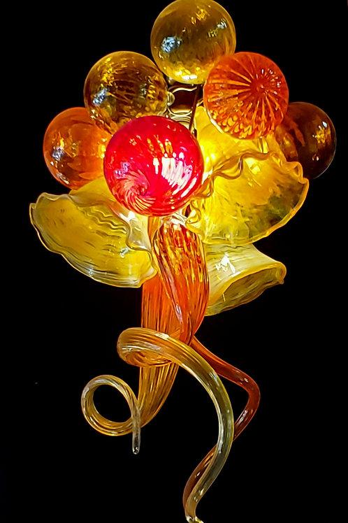 Retro lounge flower cluster chandelier