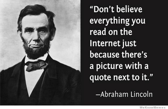 Lincoln Created the Internet