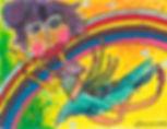 """Rainbow Warrior"" - Multi-media Portrait 11.7 x 16.5in SOLD"