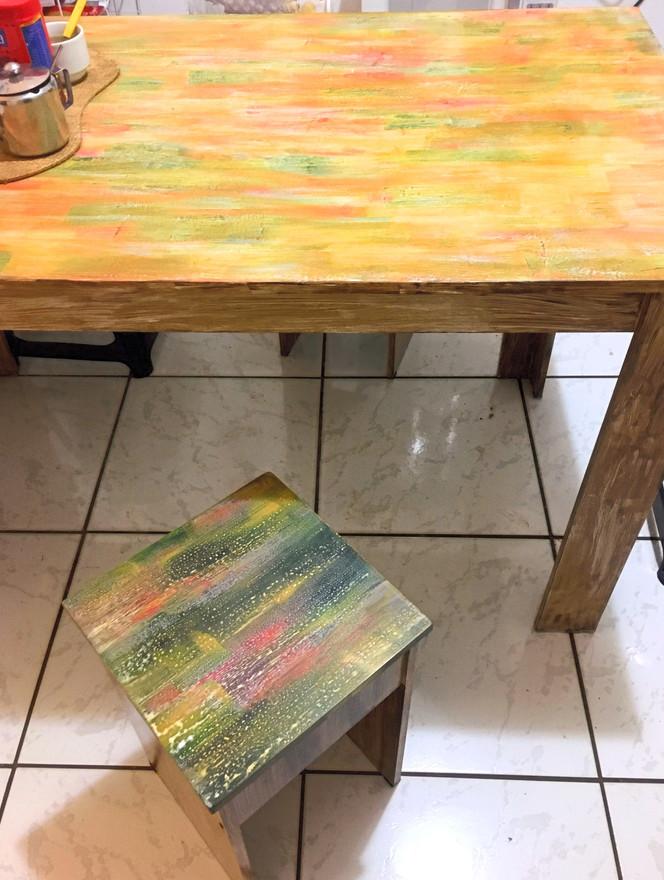 mesa em mdf cor branca