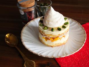 Bergamotte Tiramisu mit Mango und Baiser