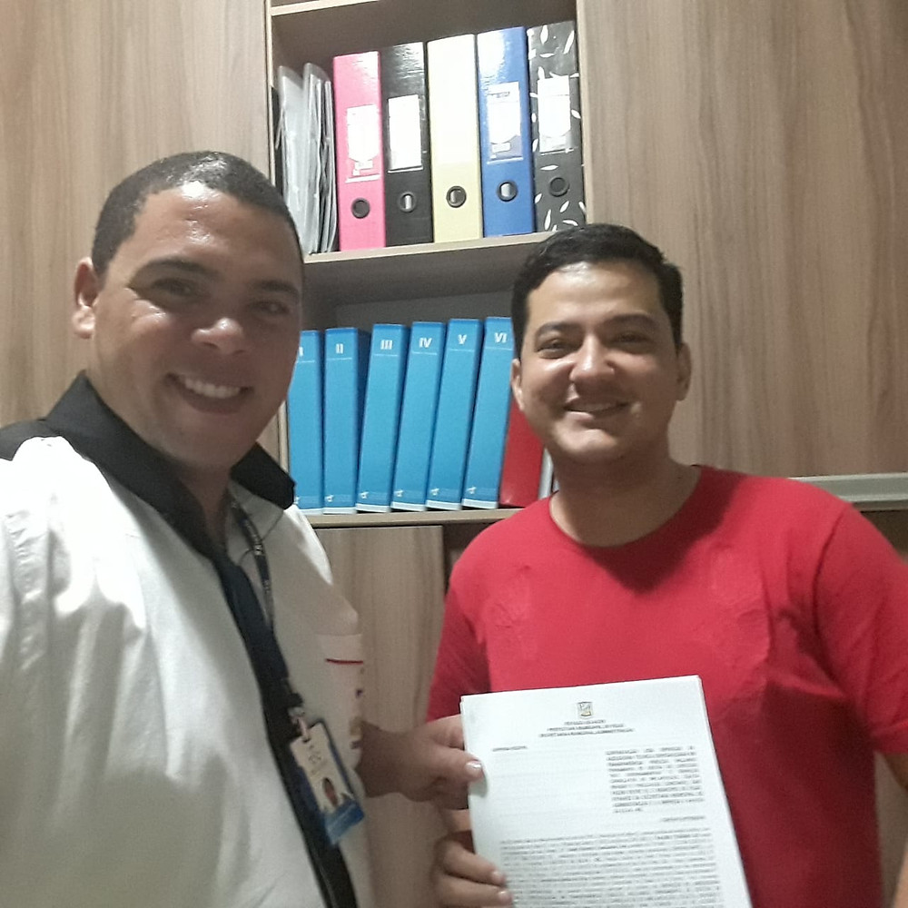 Secretário de Administração de Feijó, Wisley Monteiro e Diretor da Decorp, Prof. Demétrios Batista da Silva