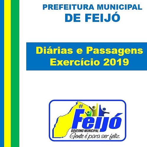 Diárias e Passagens (Exercício 2019)