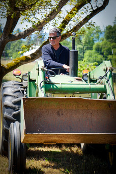 Chris on tractor