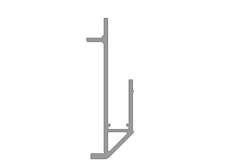 """Side Rail Extrusion - 108"""""""