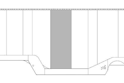 "Wall Sheet - 152"" X 48"" - White"