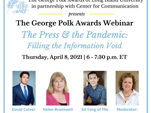 Polk Webinar Recap — An Award-Winning Dose of Truth on COVID