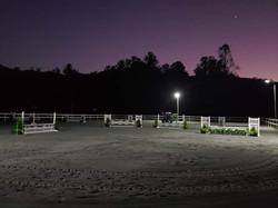 Arena Lights during installation testing