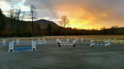 Arena sunset