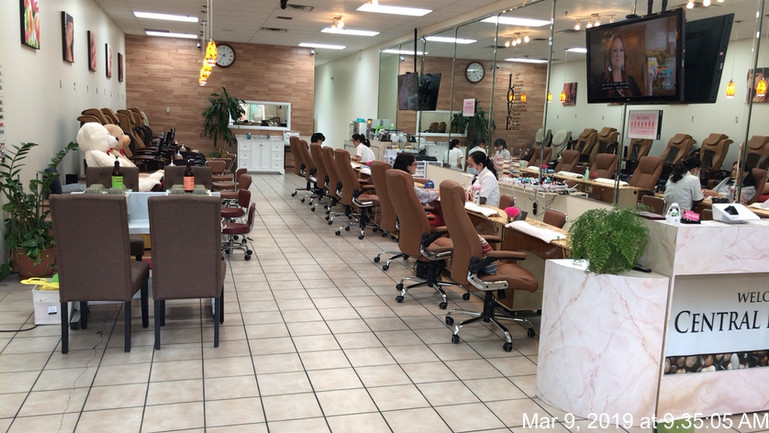 Inside Central Nails Spa