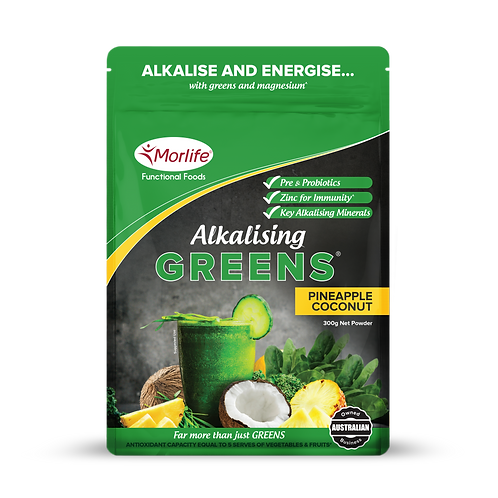 Morlife Alkalising Greens -Pineapple & Coconut 300g