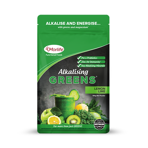 Morlife Alkalising Greens - Lemon Lime 100g