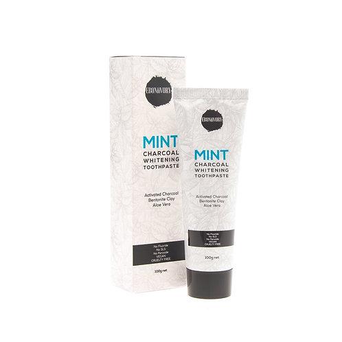 EBONiiVORY Mint Charcoal Whitening Toothpaste 100g