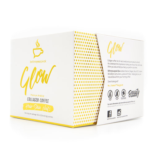 beforeyouspeak Coffee - GLOW Collagen - Hair Skin Nails 30 sachets