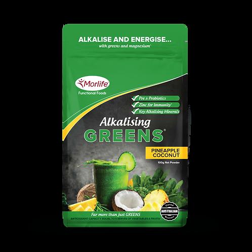 Morlife Alkalising Greens -Pineapple & Coconut 100g