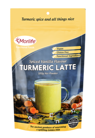 Morlife Spiced Vanilla Flavour Turmeric Latte 100g