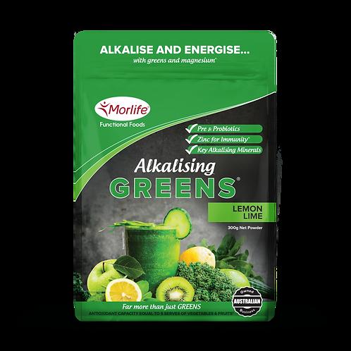 Morlife Alkalising Greens - Lemon Lime 300g