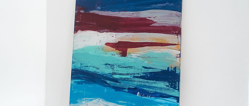 Abstract Colored Blue - I