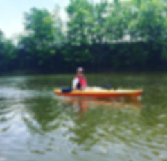 Kayaking the Cass River in Frankenmuth, MI.