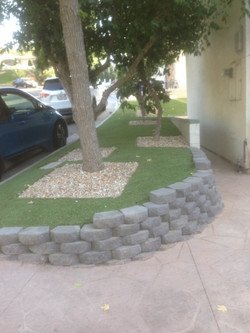 Artificial Turf and Stones