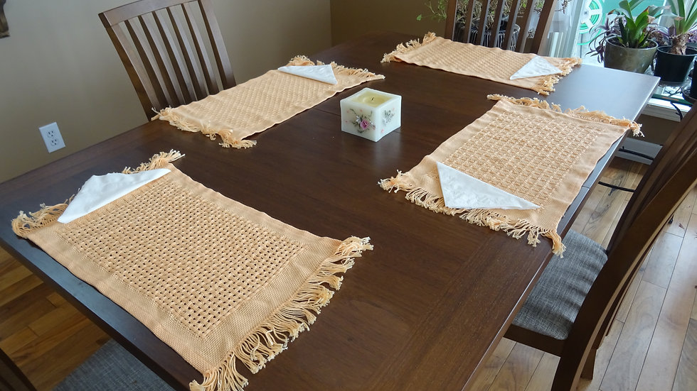 Peach Cotton Placemat set