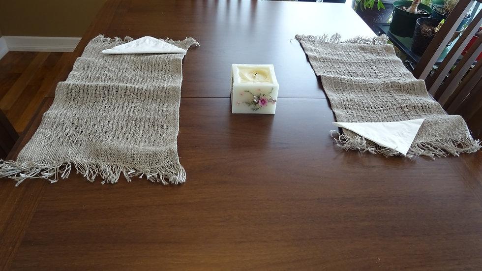 Linen placemats natural color