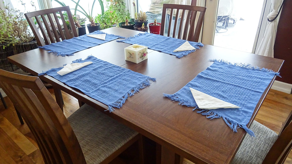 Placemats tercel royal blue, set of 4