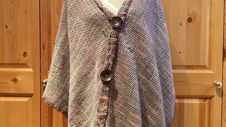 Poncho adult front crossing with buttons