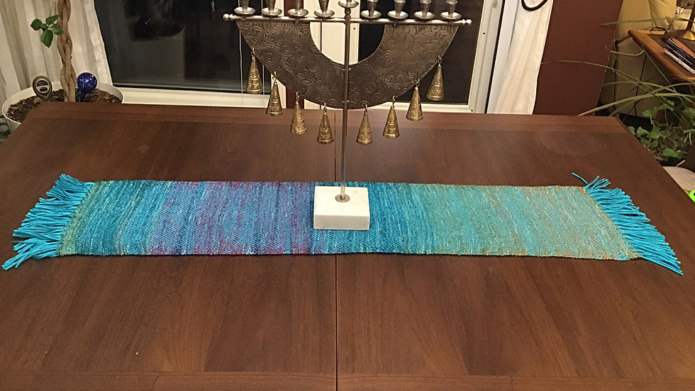 Turquoise shades Table Runner