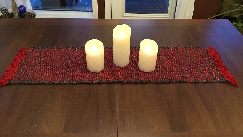 Green and Red Table Runner #2