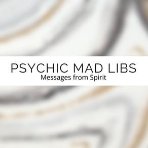 Psychic Mad Libs