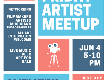 First Friday Artist Meetup Event Hosted by Liquid Luck Productions, June 4th