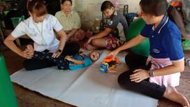 เยี่ยมบ้านเด็กพิการในชุมชน จังหวัดชัยนาท Home Visit at CBR Chainat.