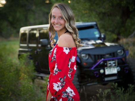 Senior Photos with Kaira & Her Jeep