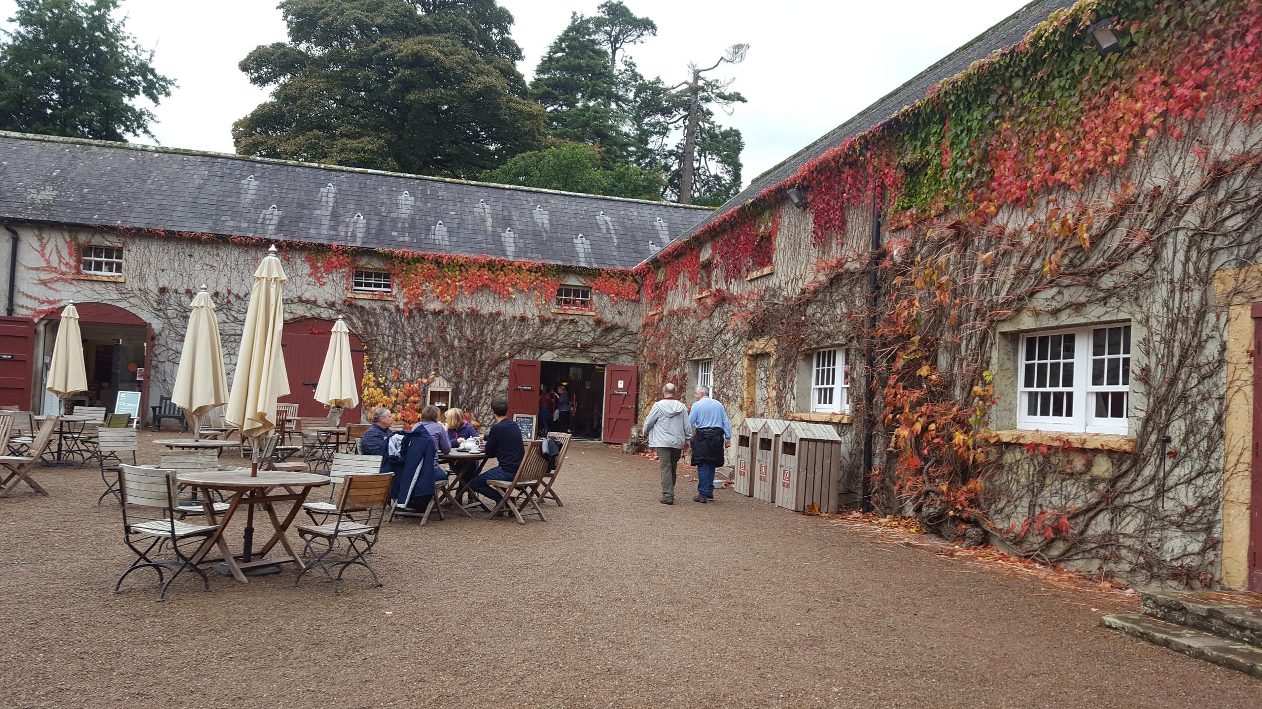 Tea in a Castle Courtyard
