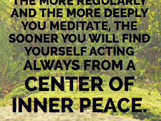 Find Your Center and Live by It
