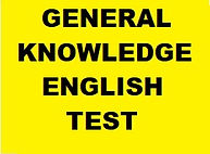 GENERAL KNOWLEDGE ENGLISH TEST BANNER. Y
